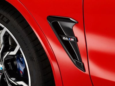 【樂駒】BMW X4M F98 原廠 M款 ///M 葉子板 飾蓋 改裝 高光黑 亮黑 車側 空力 外觀 套件