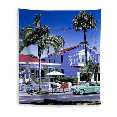 【M WareHouse】夏日街道風景掛布 掛毯 。B20120601