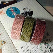 【R的雜貨舖】紙膠帶分裝 非整捲  日本mt和紙膠帶 和紋系列 花菱 (3色1組不拆)