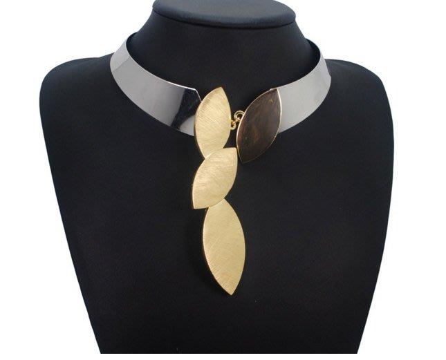 100%Boutique歐美誇張流行時尚簡約合金吊墜項鍊