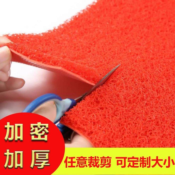 地墊可裁剪拉絲圈地毯加厚噴絲地墊PVC塑料特厚防水防滑入戶門墊定制門墊