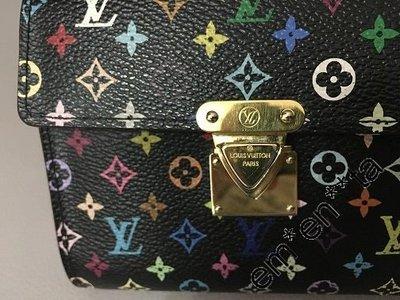 LV Multi Colour Wallet 黑彩 銀包 90% 新  100% 真品 減價 $2300.-