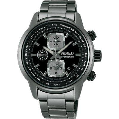 WIRED Reflection 時尚計時碼錶(AF8U21X1)-黑x鍍灰/43mm