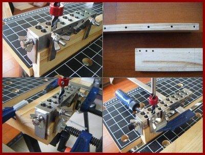 【木頭人】木釘 電鑽 鑽孔 定位器 木釘定位器 木工工具- 4合一 (台灣製造) 木榫 打孔器 打孔 鑽孔