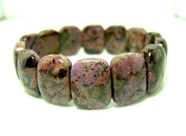 小風鈴~純天然頂級紫紅色舒俱徠石寬版手排~淨重45.4g
