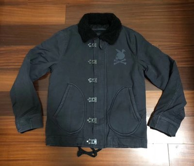 日本Mastermind Japan聯名款Neighborhood AW18鐵扣N-1D立領格棉外套夾克