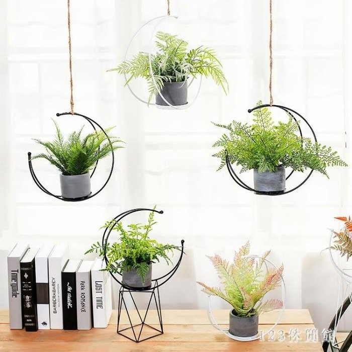 全館免運特價-北歐仿真藤蔓植物壁掛室內客廳墻面懸掛裝飾綠植垂吊 【甜心】