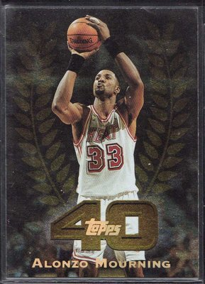 97-98 TOPPS TOOPS 40 #40-37 ALONZO MOURNING