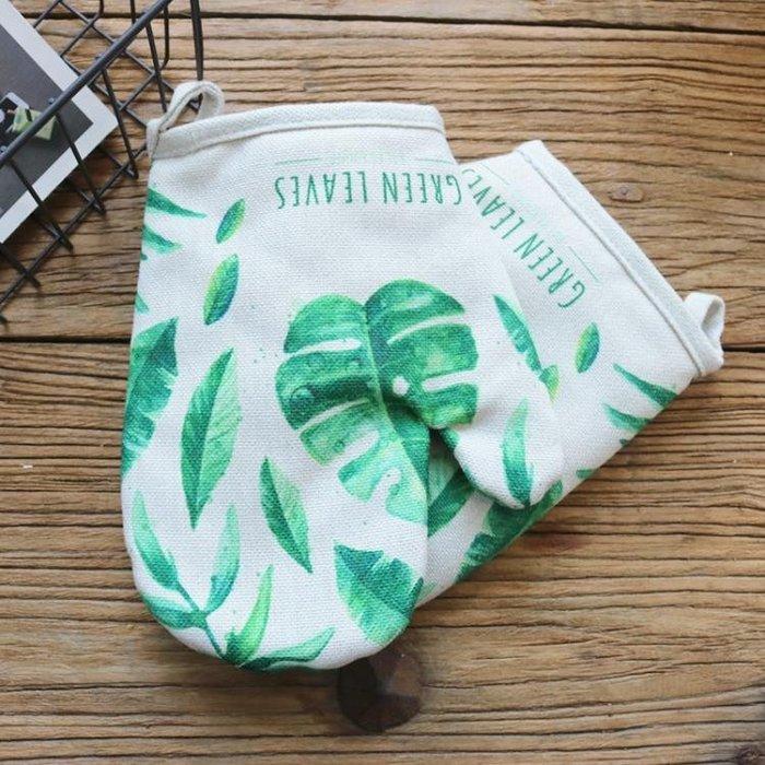 日居仕 加厚棉麻烘焙隔熱手套微波爐手套耐高溫手套烤箱專用手套