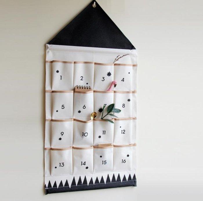 北歐ins電表箱遮擋裝飾兒童房掛袋 大收納袋 牆掛式NMS