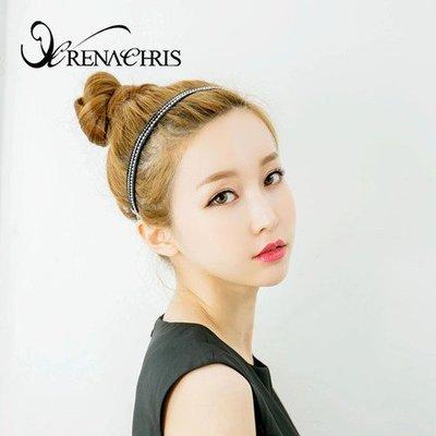 BHI1356-法國品牌RenaChris 漂亮珍珠圓珠絢麗髮圈 髮帶【韓國製】