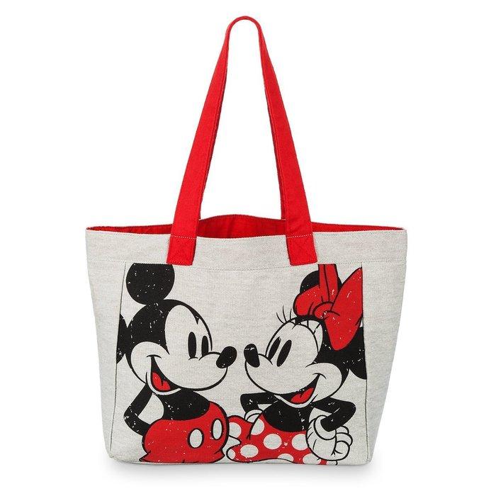 代購現貨 美國加州迪士尼商品  米奇和米妮帆布手提包