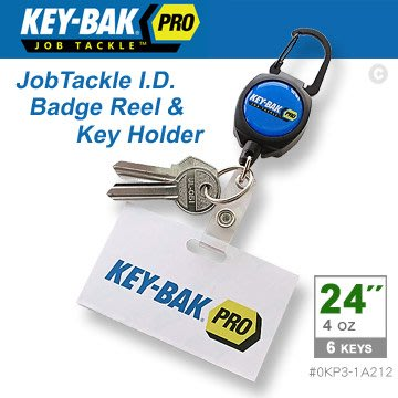 "【EMS軍】美國KEY-BAK JobTackle 系列 24"" 伸縮鑰匙圈證件夾-(公司貨)#0KP3-1A212"