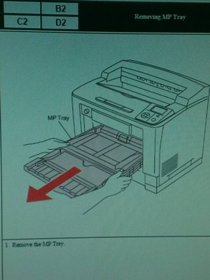 Epson AcuLaser M8000N  Removing MP Tray  [含稅價]