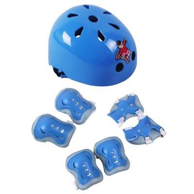 【栗家生活】兒童頭盔六件套 滑板車運動 輪滑 加厚蝴蝶款