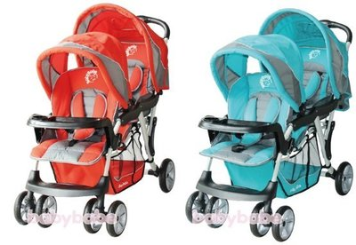 BabyBabe歐風雙人推車嬰兒手推車雙胞胎推車B329雙座位雙人嬰兒推車(奇哥chicco Aprica GRACO