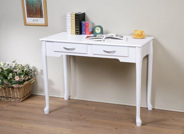 100*50防潑水二抽書桌 工作桌 美甲桌 電腦桌  簡單組裝【馥葉】【型號DE1050】可加購玻璃、椅子
