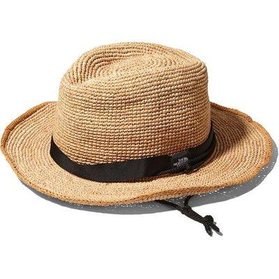 【環球精品】 The North Face Raffia Hat 編織遮陽草帽。