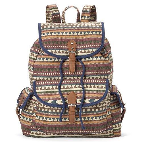 休閒品牌 MUDD 女生款美式休閒風帆布後背包 ( 新款上市 . 特價出售 )*