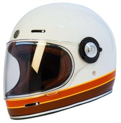 台北捷寶P&J X GU CAMP TORC 安全帽 復古樂高帽 T1 全罩 安全帽 雙D扣 樂高帽 山車帽 (彩繪白)