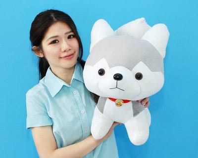 超可愛哈士奇娃娃~Q版造型~高45公分~哈士奇狗狗~雪橇犬玩偶~生日情人禮物