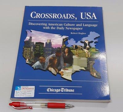 英文報紙 美國語言與文化Crossroads, USA : Discover USA Culture & Language with Newspaper(全新)
