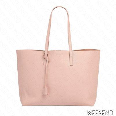 【WEEKEND】 SAINT LAURENT YSL Shopping 皮革 托特包 淺粉色