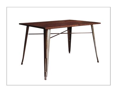 [ 椅子王 ] ----- T1實木桌  120x80 4人桌