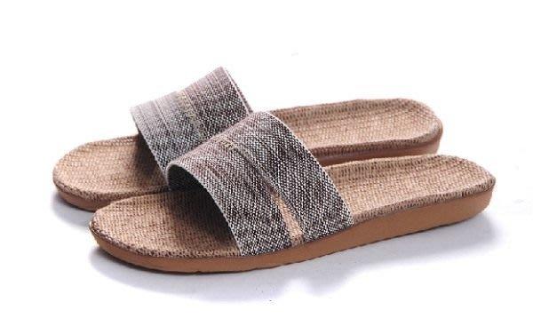 就愛夾腳拖!天然亞麻拖鞋,吸汗透氣,簡單自然舒適 ~ 男款,片煙灰,40~41 42~43