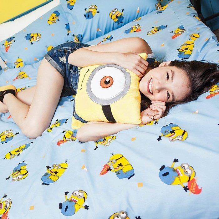 床包被套組 / 單人【小小兵全速前進】含一件枕套  迪士尼授權  高密度磨毛布  戀家小舖台灣製ABF112