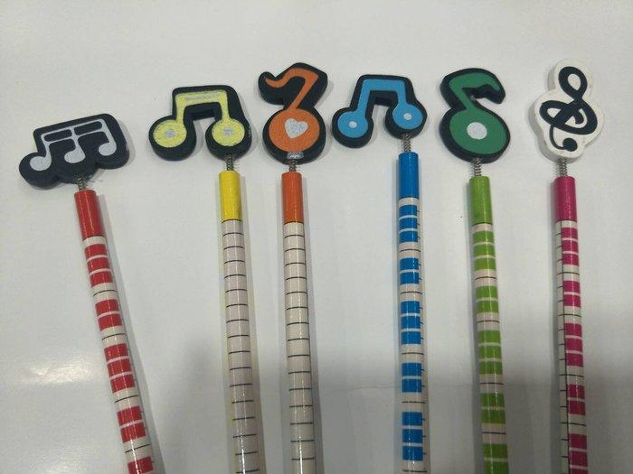 ╰☆美弦樂器☆╯音符造型鉛筆組 (一組6支)