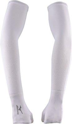 2017 MIZUNO 美津濃 抗紫外線UPF50 素色反光 加長型 運動防曬袖套 騎鐵馬 路跑 慢跑《32TY4G0301》