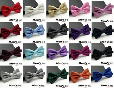 vivi領帶家族 -- 男仕配件 //素面 暗格紋。結婚新郎、伴郎紳士領結、蝴蝶結(20色)現貨供應