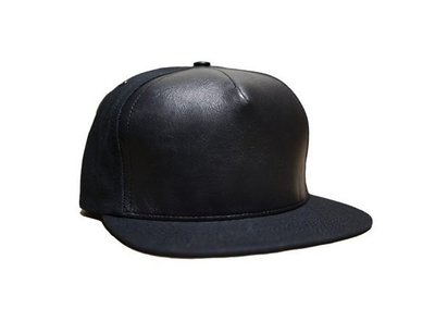 { POISON } ACTUAL PAIN Blank Leather Duck Cloth Hat 小羊皮帽  粗帆布帽身