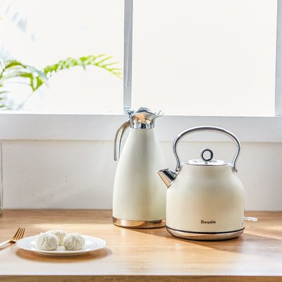 水壺Bargaim燒水壺全自動家用304不銹鋼電熱水壺大容量煮水壺自動斷電