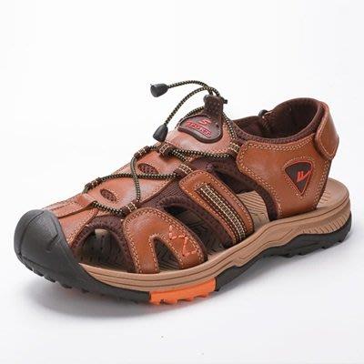 涼 鞋 真皮拖鞋-清涼透氣柔軟舒適男鞋子4色73sa11[獨家進口][米蘭精品]