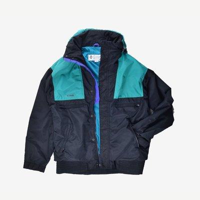 Columbia Vamoose Jacket 黑 紫 綠 S 撞色 多口袋 印花 防潑水 台灣製 機能 防風 外套