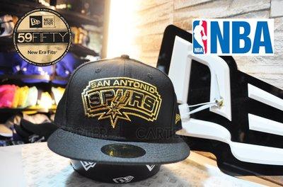 New Era x NBA San Antonio Spurs Gold 59fifty 聖安東尼奧馬刺金字全封帽