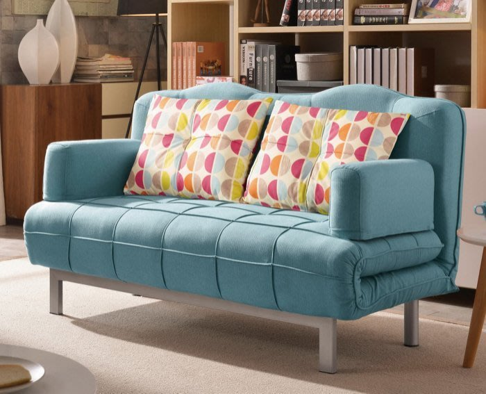 【DH】商品貨號G724-1《克翠派》布面沙發床(圖一)座/臥兩用。座椅/臥室床。 布套可拆洗。附抱枕兩個。主要地區免運費