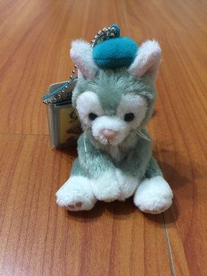 《日本迪士尼帶回》達菲.雪莉梅的新朋友 畫家貓咪 傑拉東尼 坐姿珠鏈 現貨