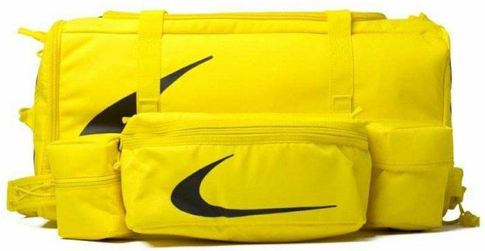 Nike x OffWhite 聯名 NRG Duffle Shoulder Bag 2Way Virgil Abloh 手提 肩揹 二用 大包包 黑色 黃色