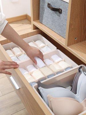 內衣收納盒內衣盒分格抽屜式塑料文胸整理盒收納箱襪子內褲收納格