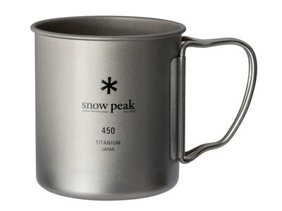 「自己有用才代購」Snow Peak 雪峰 MG-143 單層 鈦金屬馬克杯 鈦鋼杯 450ml 杯蓋 MGC053