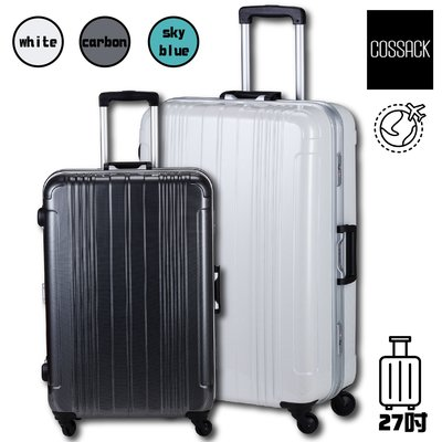 質感倍加👍 COSSACK 實質系列 27吋PC鋁框行李箱 (出國/拉桿箱/登機箱/行李箱) CS11-2016027