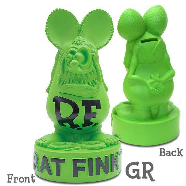 (I LOVE樂多)原版RAT FINK老鼠芬克存錢桶 (5種配色供你挑選.送人自用皆適宜)