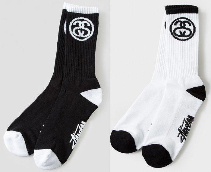 【超搶手】全新正品 2015 秋季 最新 現貨 STUSSY SS LINK FA15 SOCKS 雙SS 襪子黑白灰