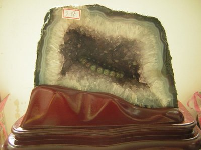 【尋寶坊】紫水晶洞(紫晶洞)~高21公分《直購品》本晶洞帶鈦晶共生贈特製底座~
