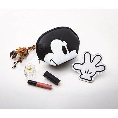 ☆Juicy☆日本雜誌 附贈 迪士尼 米奇貝殼 收納包 化妝包 手拿包 收納袋 +票夾 零錢包 小物包 4015