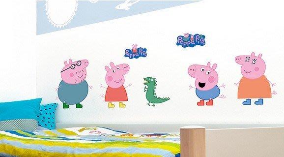 【現貨】佩佩豬壁貼牆貼 幼兒園 教室 居家佈置 可移除及重覆使用牆貼(一家四口+恐龍款)  [ MACHI SHOP ]