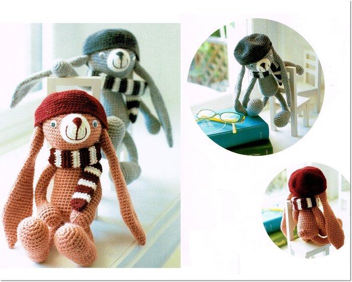 編織毛線娃娃  長耳兔材料包 ~多色任選!手工藝材料、進口毛線、編織工具☆彩暄手工坊☆